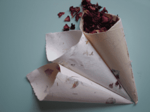 How to make paper confetti cones dried flower crafts paper confetti cones mightylinksfo
