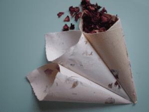 handmade paper confetti cones wedding confetti