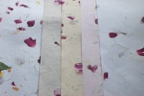 handmade paper dried rose petals