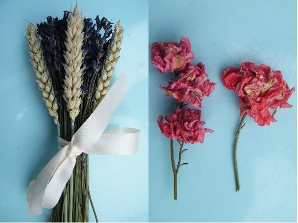 lavender wheat bunch delphinium