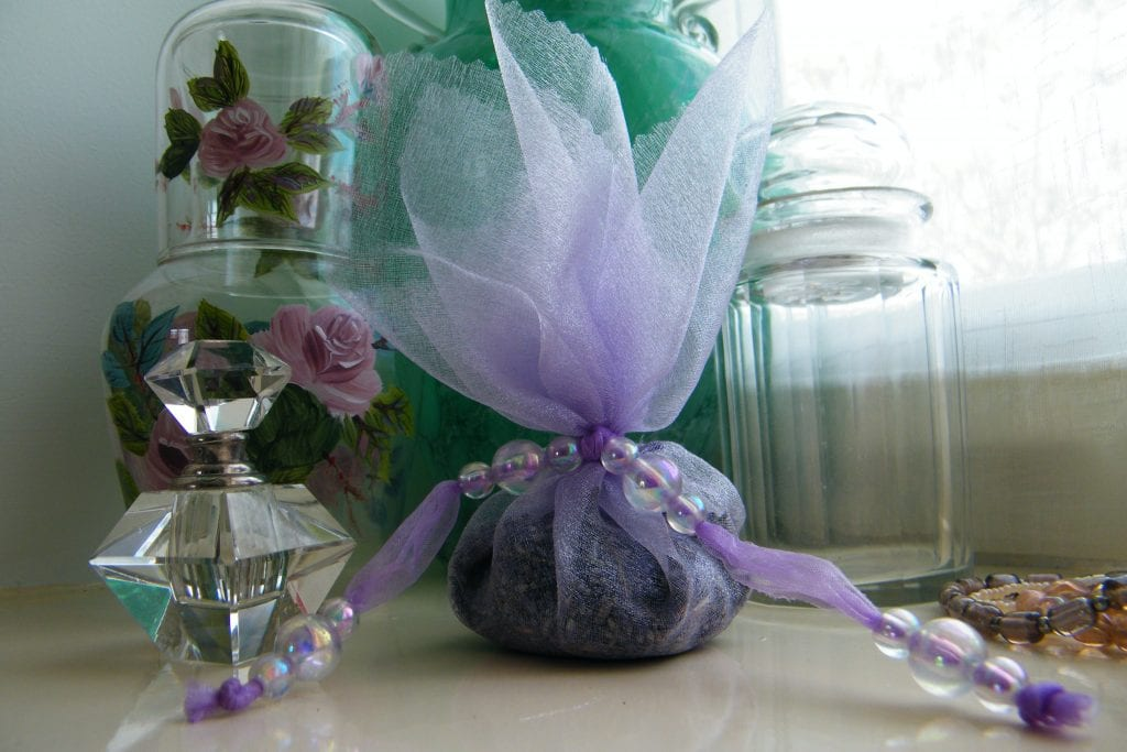 no sew lavender bag dried lavender