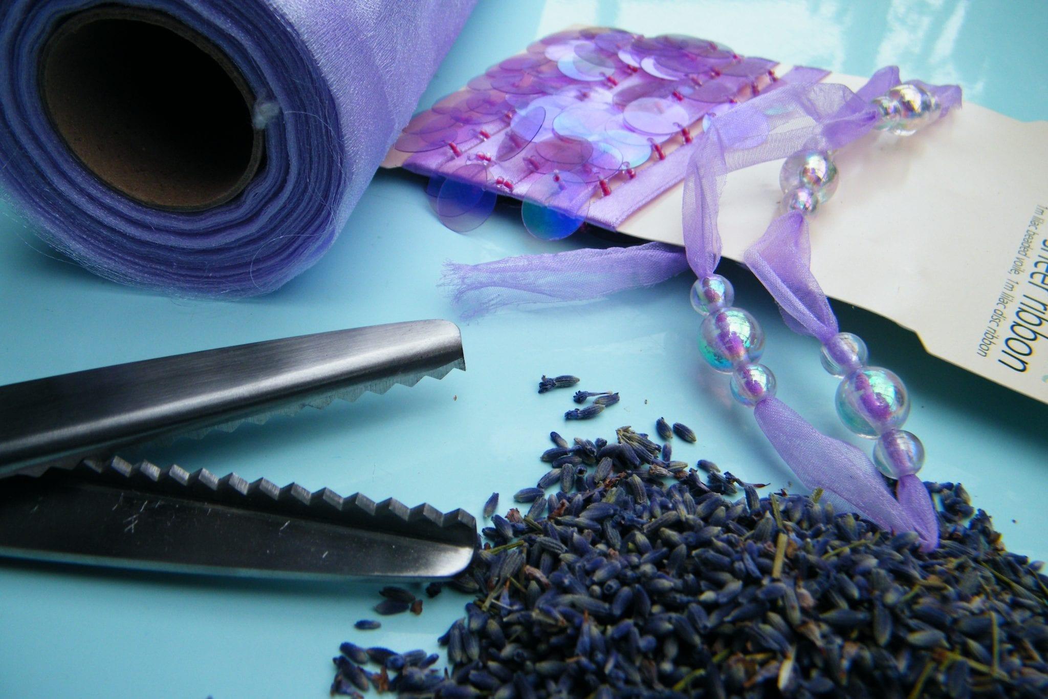 no sew lavender bag equipment
