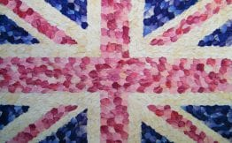 union jack delphinium petals wedding confetti