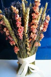 Bridal dried flower bouquet