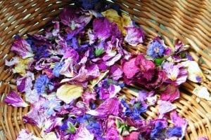 dried rose geraniums