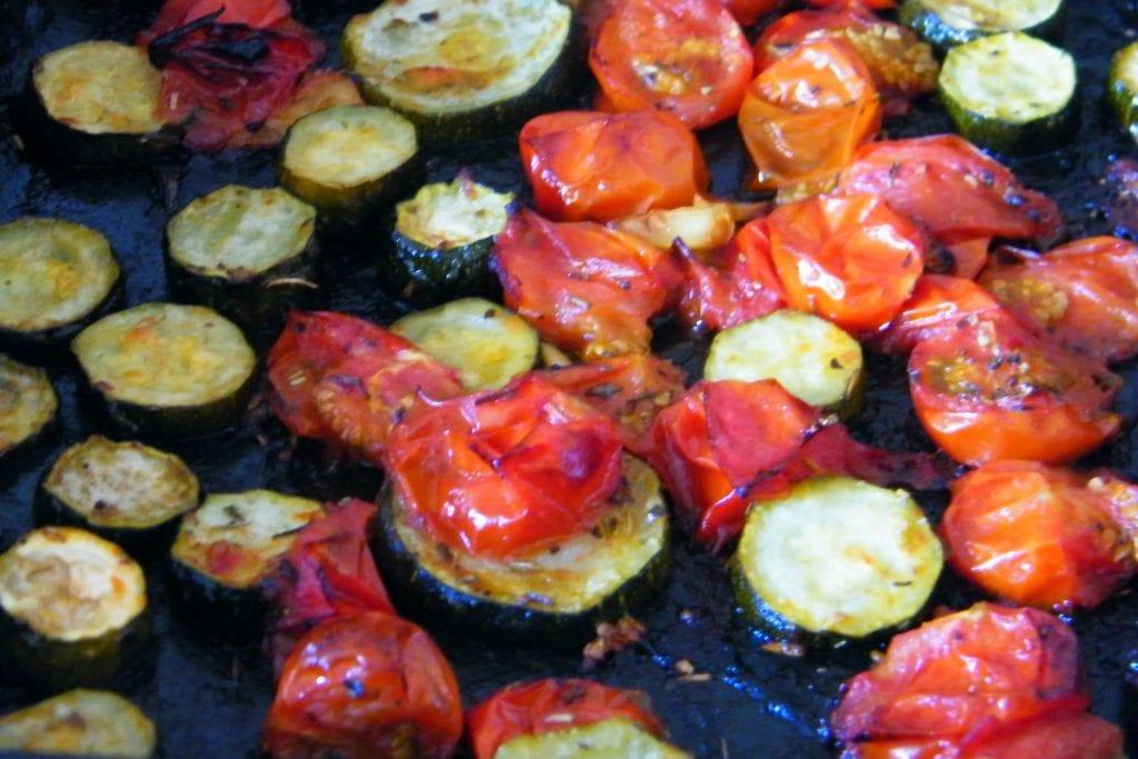 roasted veg herbs