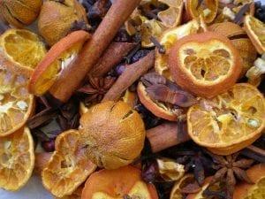 Christmas potpourri recipe cinnamon sticks orange slices