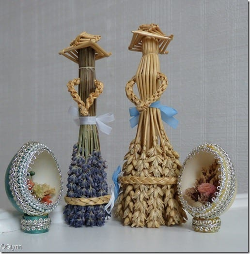 dried flowers eggs dried wheat dollies