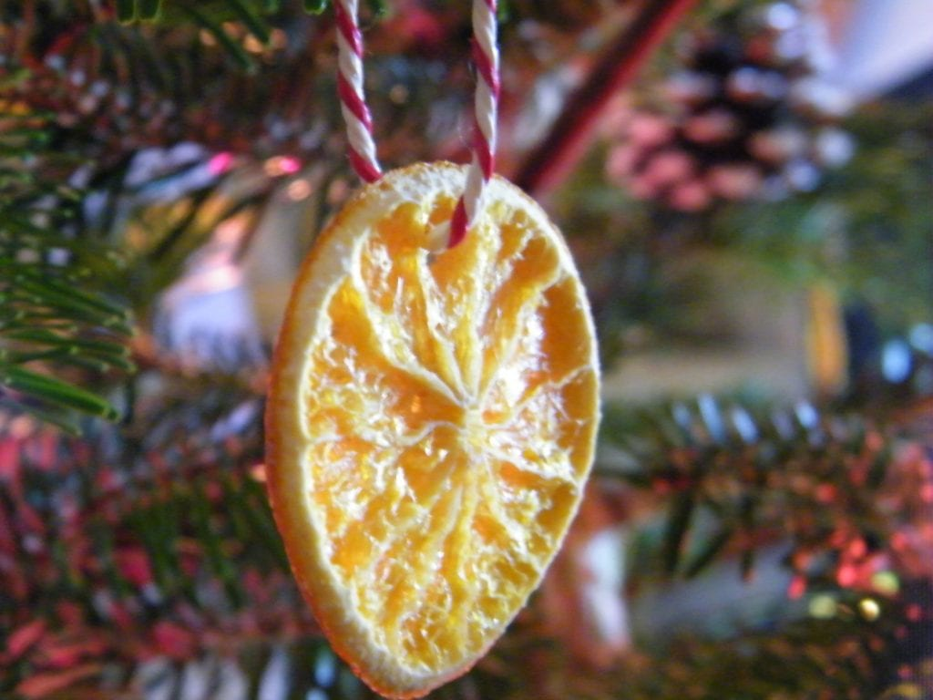 dried orange slice natural christmas decoration