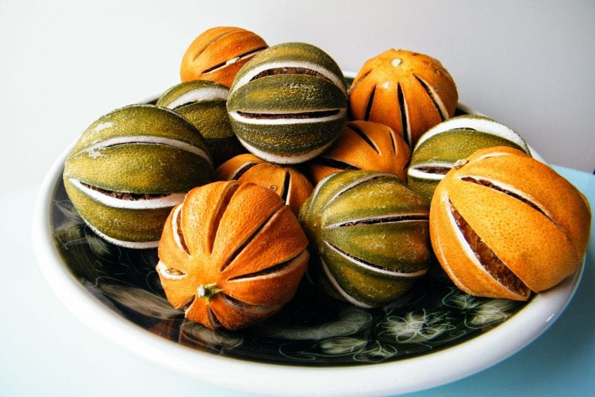 whole dried oranges