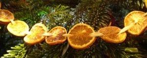 natural christmas garland dried orange slices