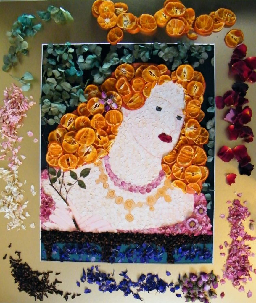 rosamund dried flower art