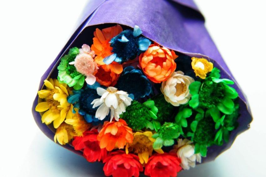 barcelona dried flower bouquet