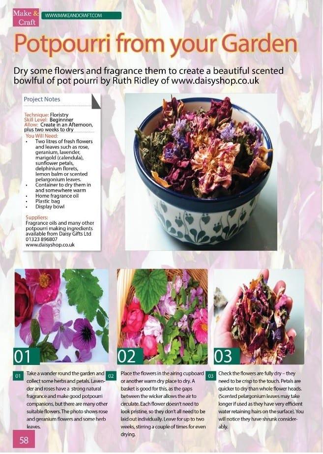 potpourri dried flowers article