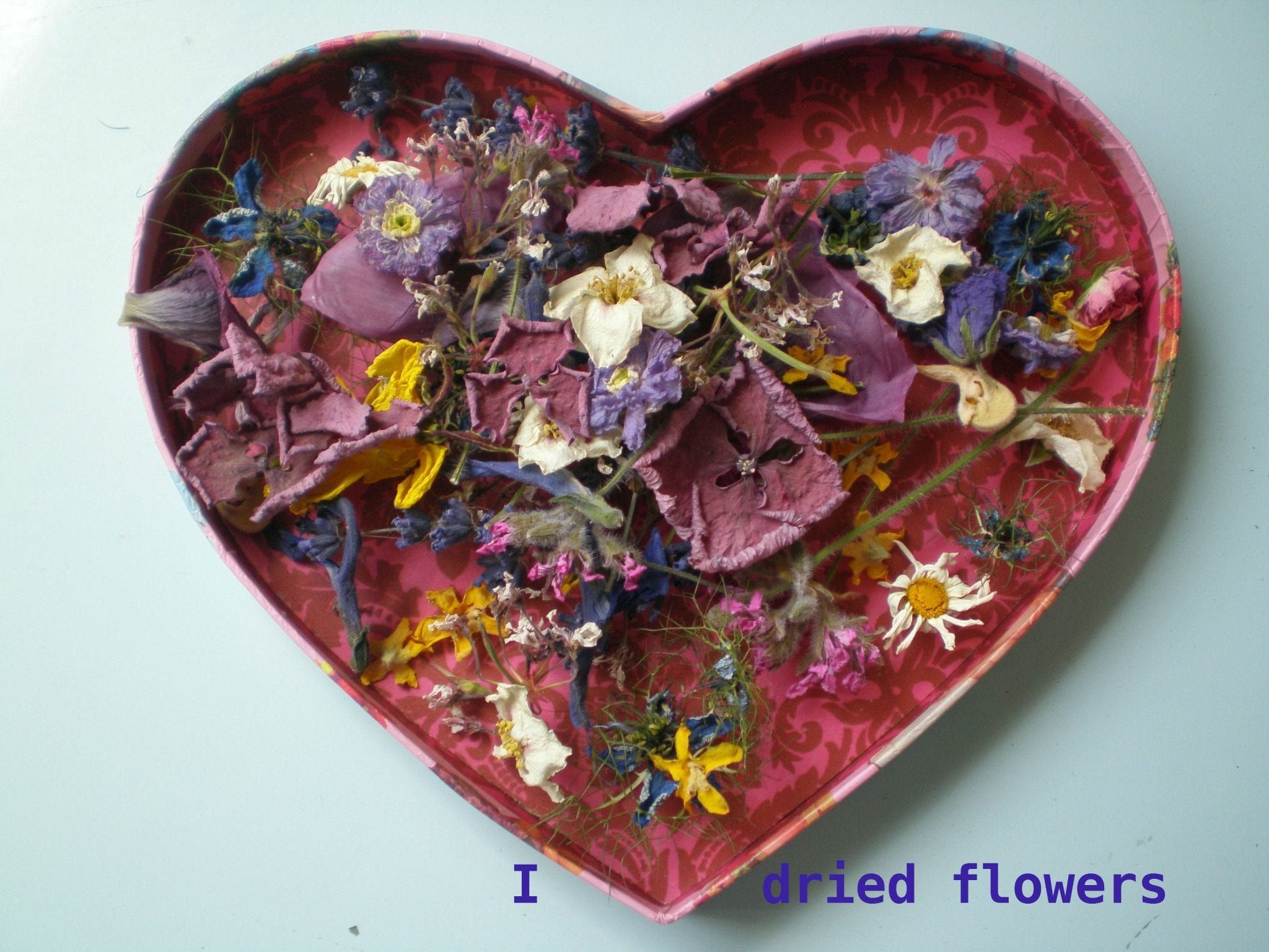 I love dried flowers