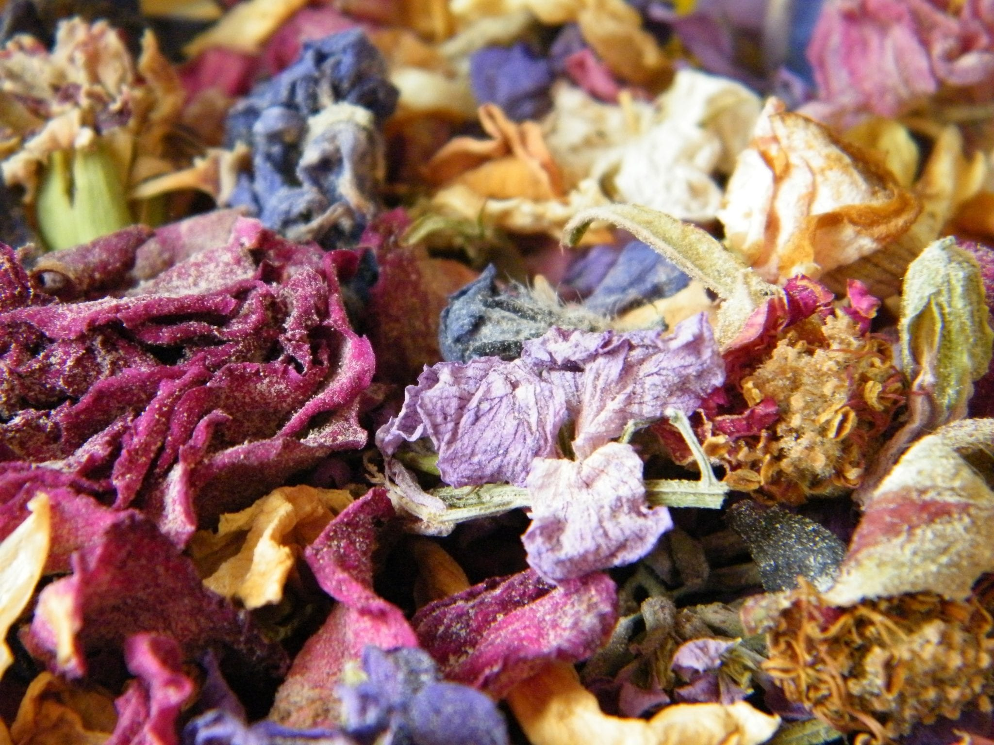 traditional potpourri making with dried petals