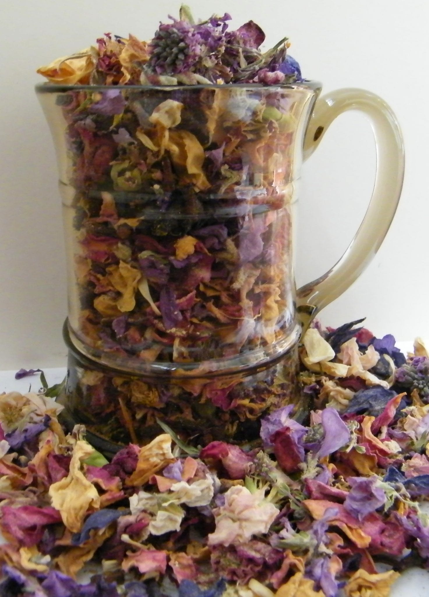 traditional potpourri dried petals jug