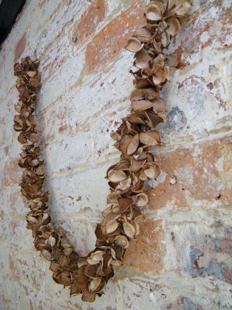 natural cotton pod garland