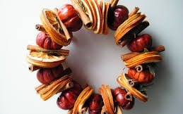 natural christmas wreath orange slices
