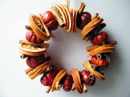 natural christmas wreath orange slices
