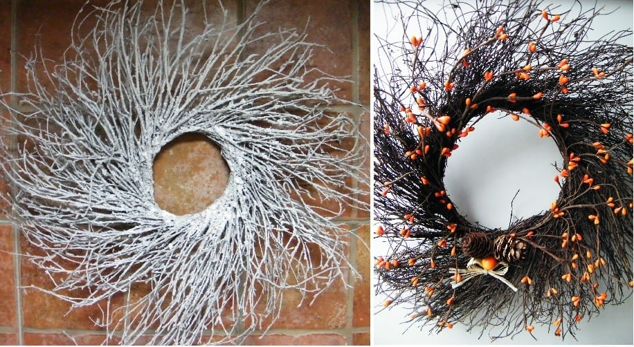 christmas wreath ideas with twigs