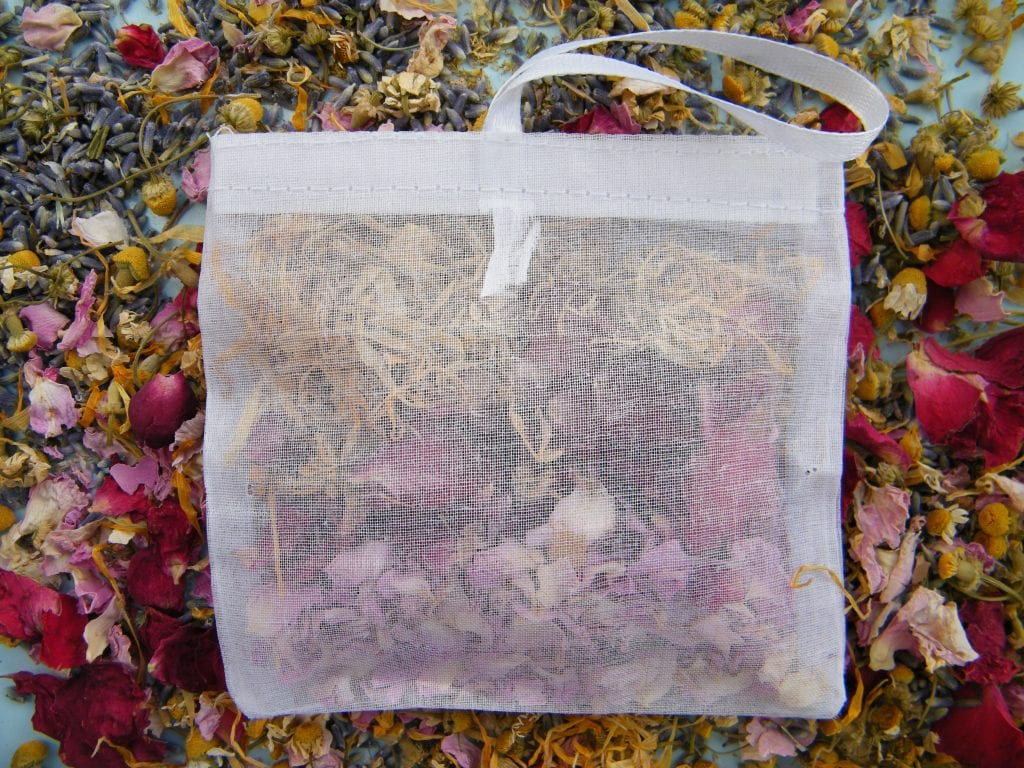 bath sachet dried flower petals mothers day gift