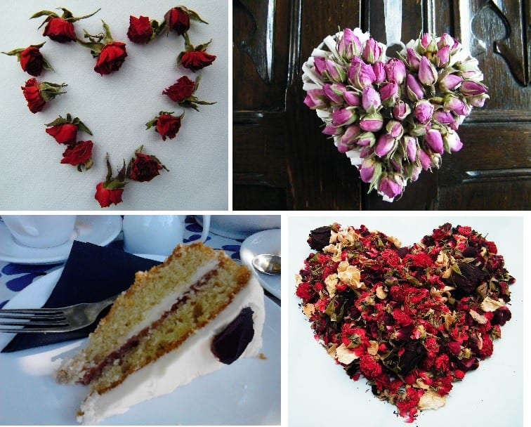 Valentines ideas with dried roses