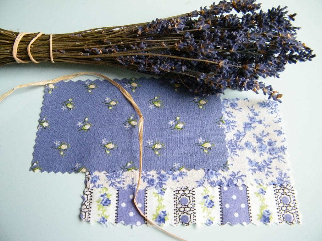 what you will need for this lavender bunch make