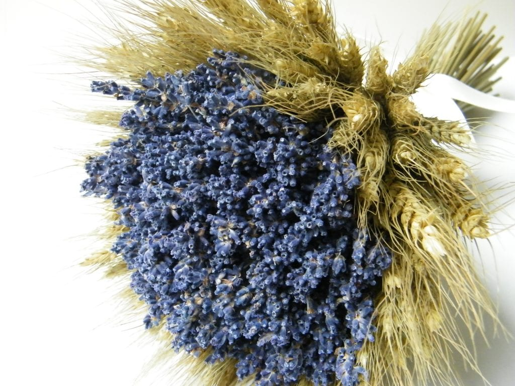 large bearded wheat dried flower bouquet