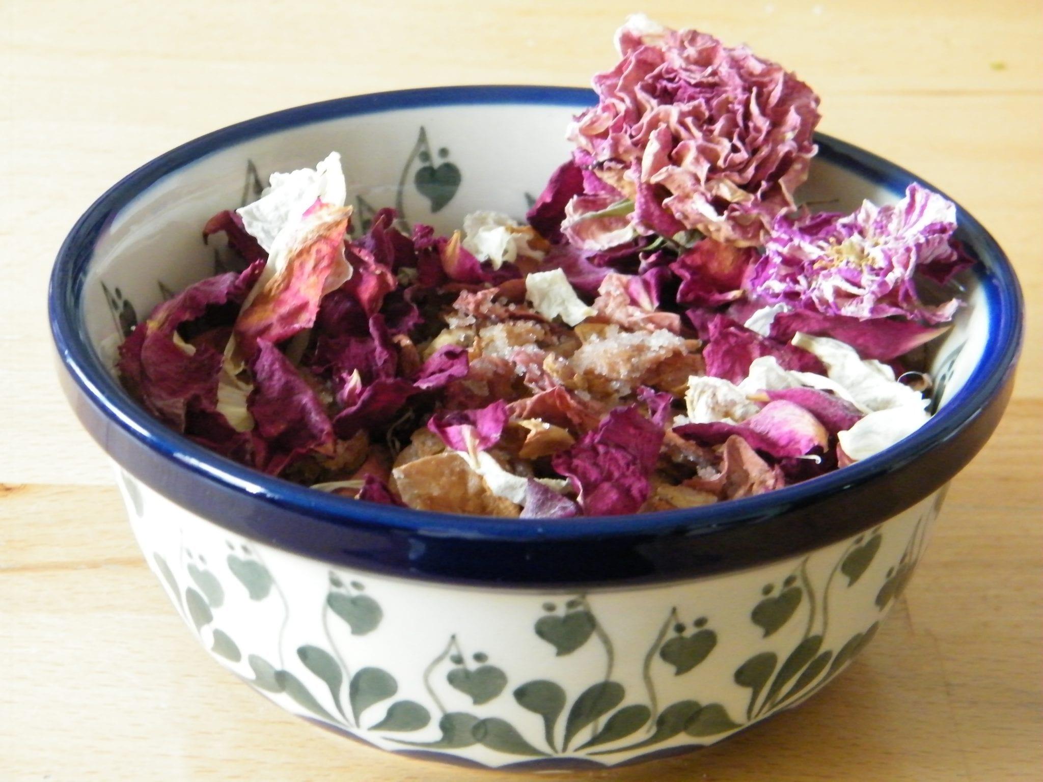 handmade potpourri recipe in bowl