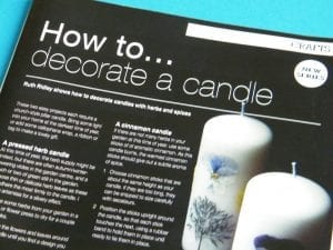 winter candle project herb society