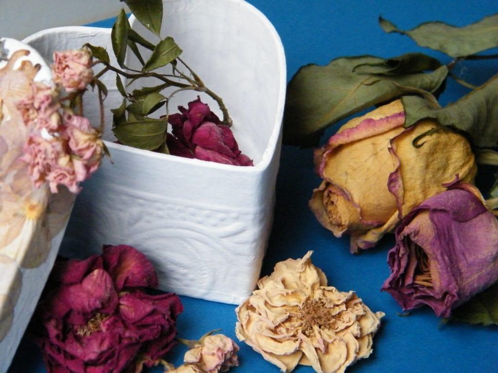 dried flowers box