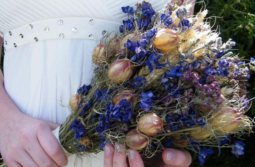 british dried flower bouquet made using uk flowers