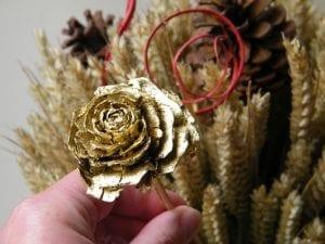 adding cedar rose festive wheat sheaf
