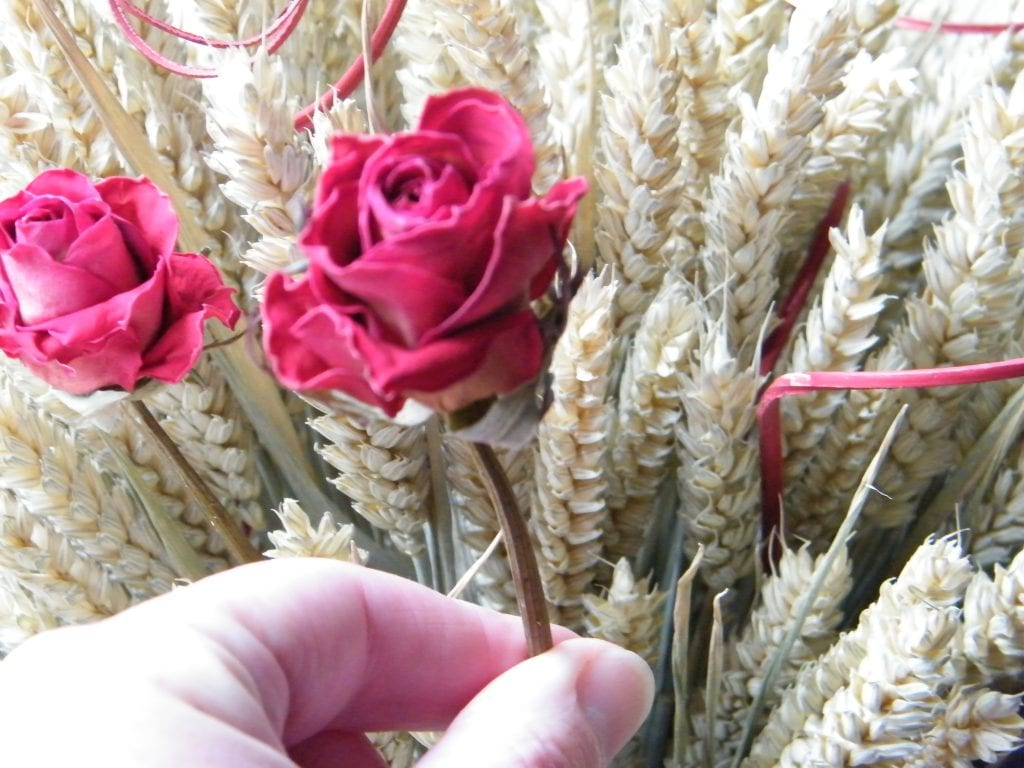 adding rose wheat sheaf