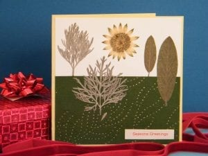 pressed flower christmas card