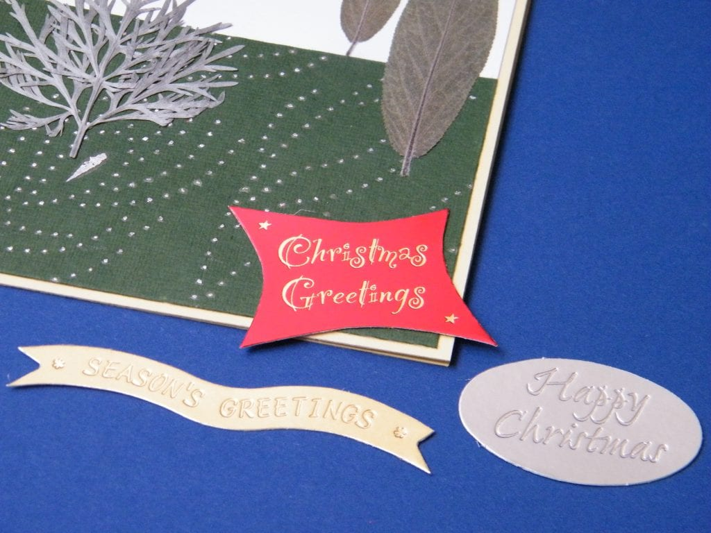 messages for pressed flower diy christmas card