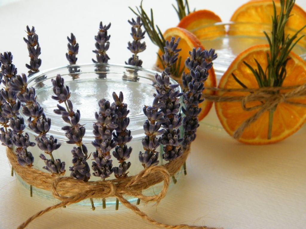 natural room fragrance jars