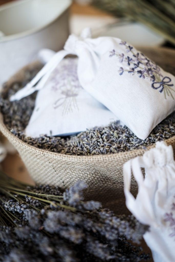filled lavender bags