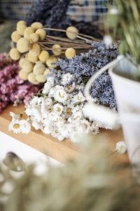 assorted dried flower bunches