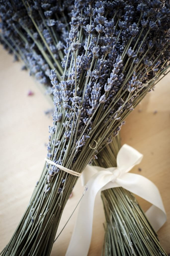 detail lavender bunches