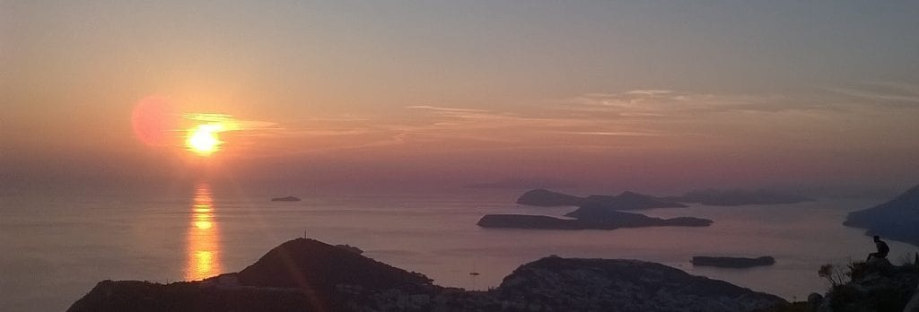 sunset dalmatian coast