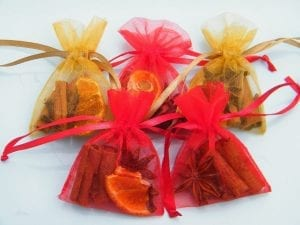 natural christmas tree decoration scented bag