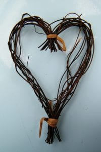 heart wreath trimmed