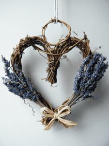 dried lavender heart wreath