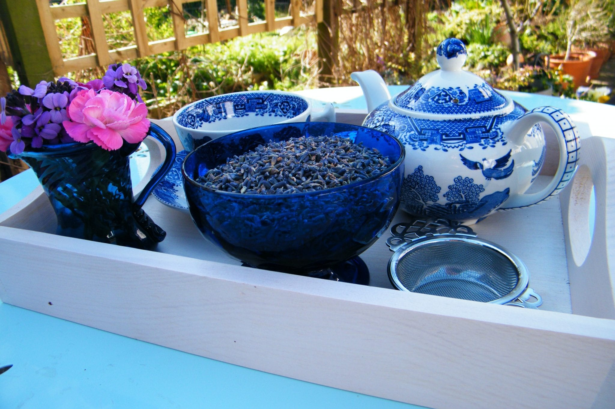 dried lavender tea garden