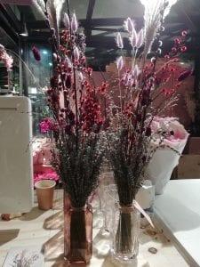 cafe flowers inside market