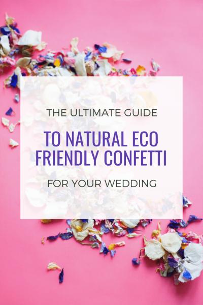 natural eco friendly confetti
