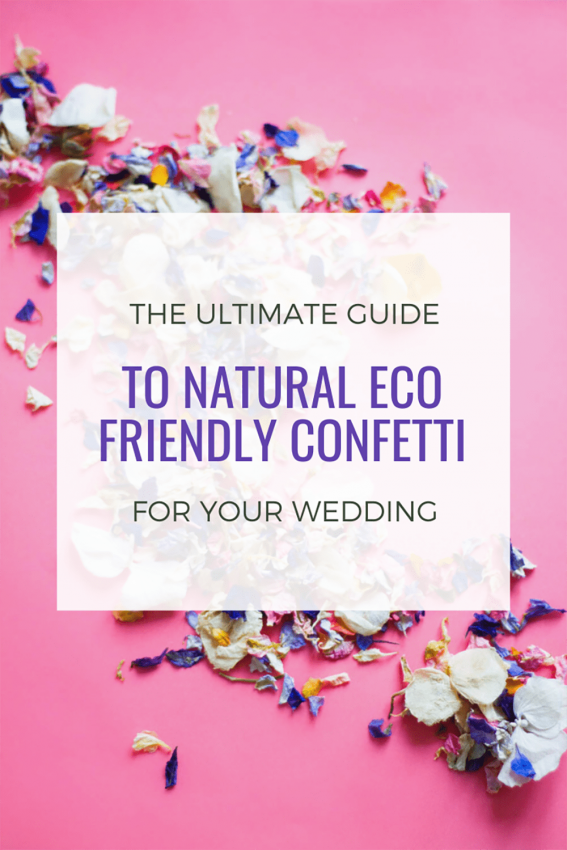 natural eco friendly confetti