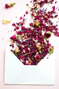 wedding envelope rose buds